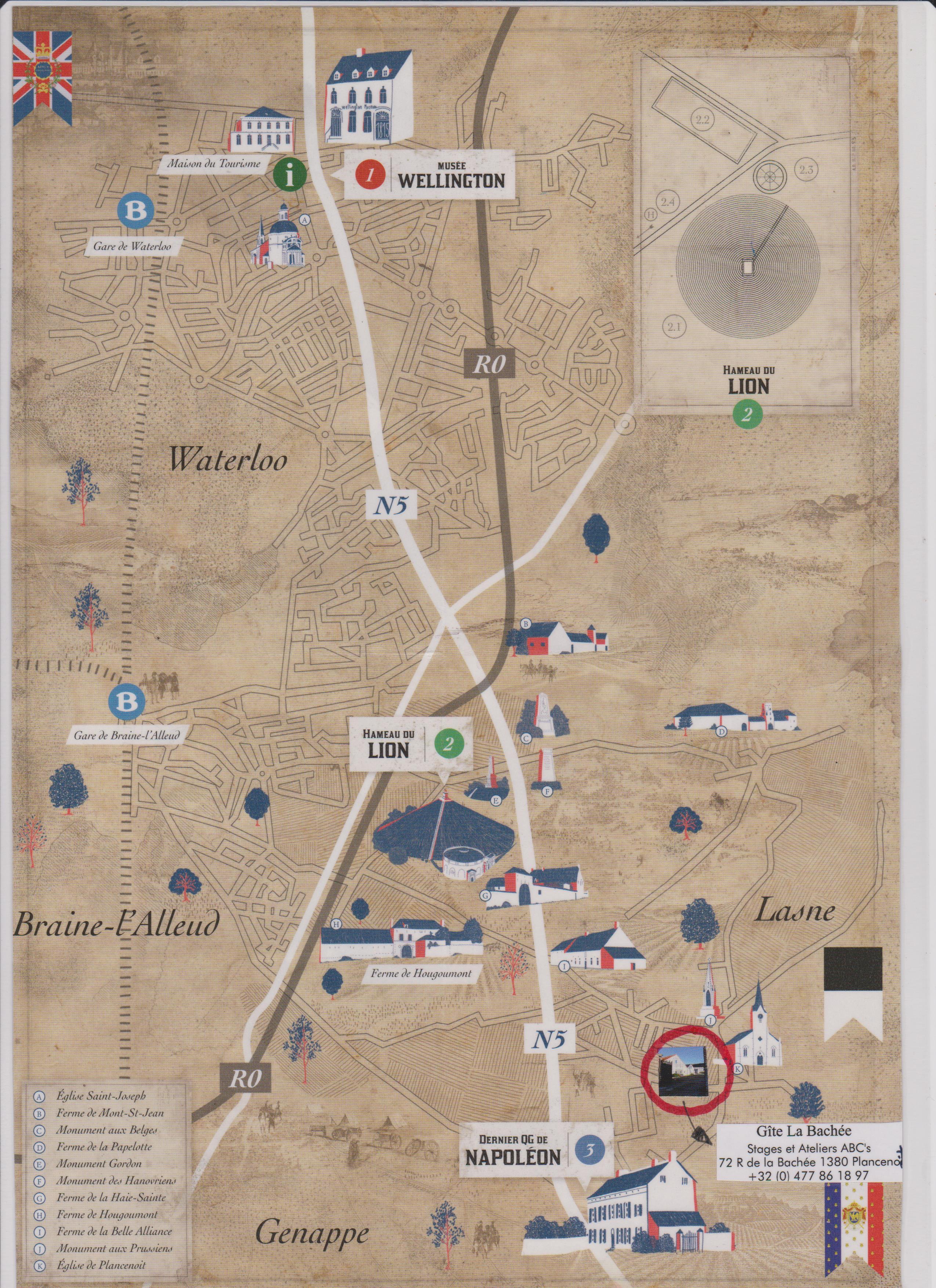 Carte-lieux-de-la-bataille-de-Waterloo
